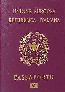Passaporte Italiano Biométrico